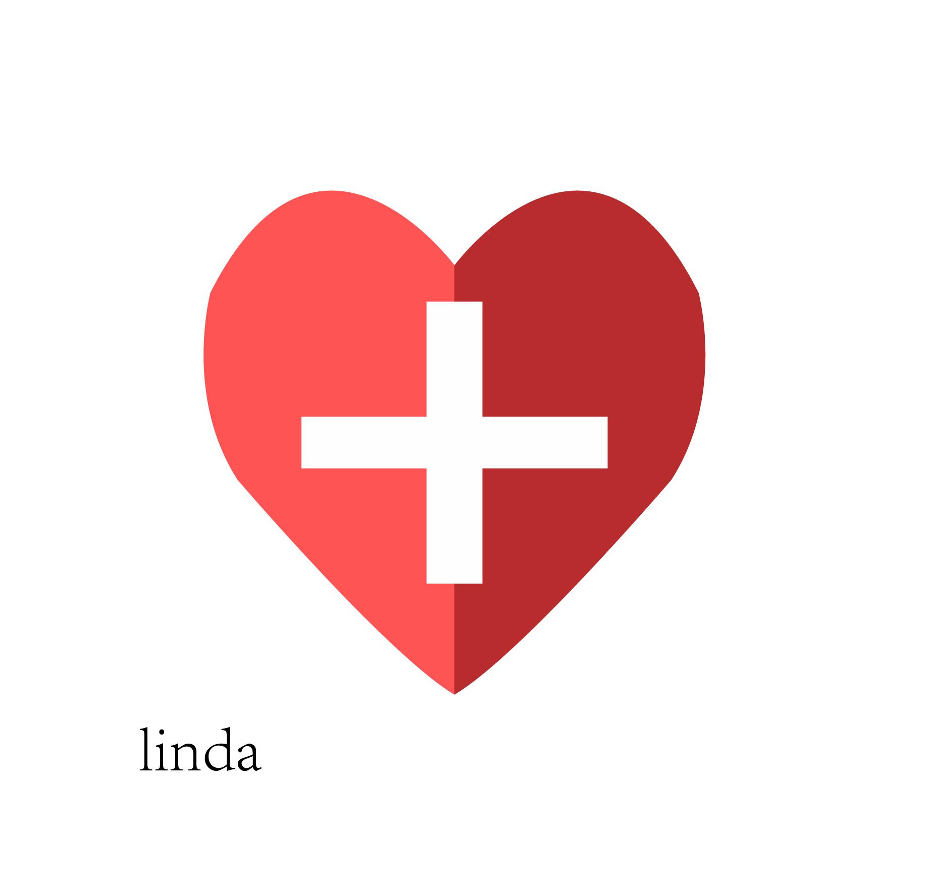 红色扁平化logo素材