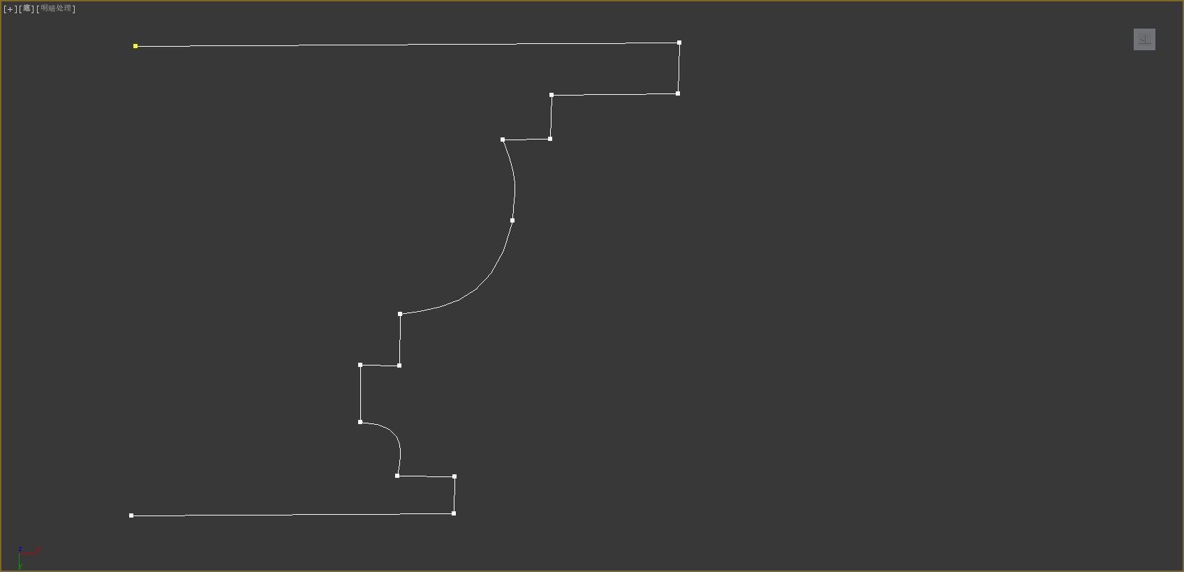 第二天作业二维图形建模(描线,架子)