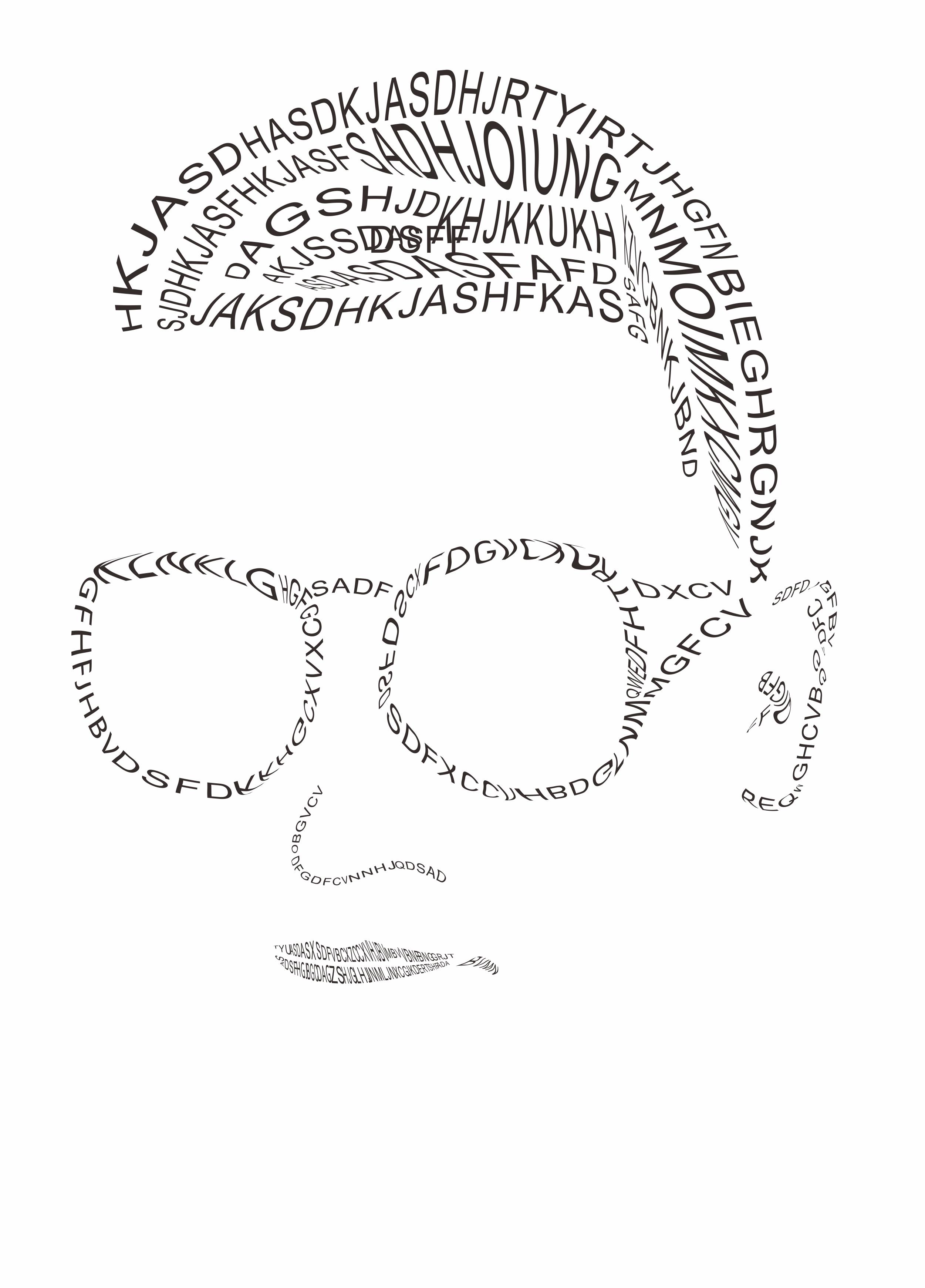 第三天作业:点线面文字海报/dm单张