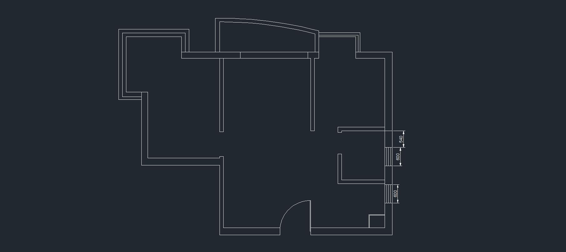 第六课 绘制原始建筑平面图及梁位结构图