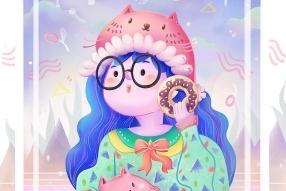 清新女孩插画(附教程和笔刷详解)