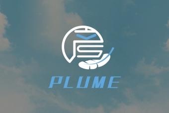 """彦羽plume""logo设计"