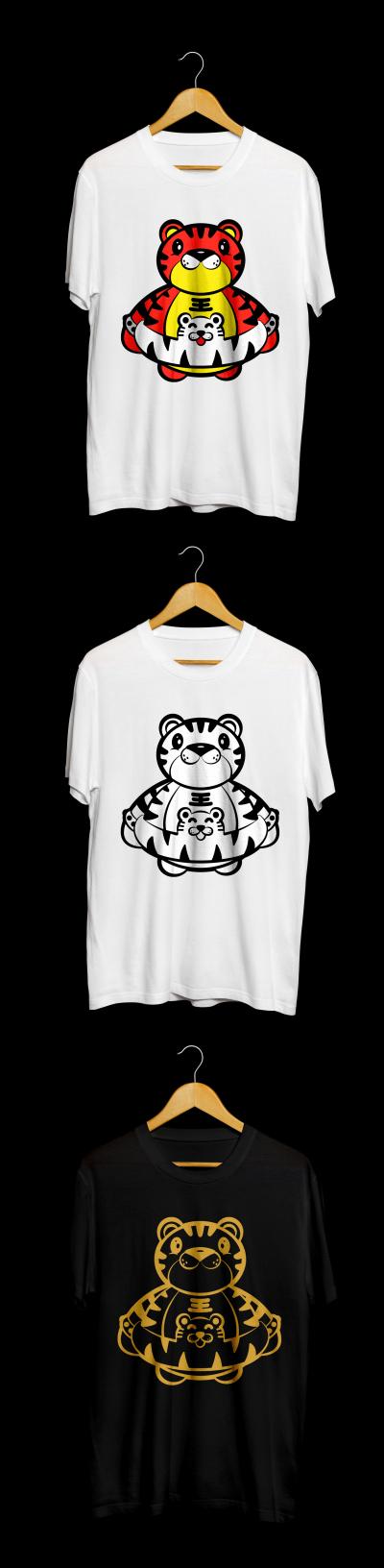 插画---潮流T恤衫